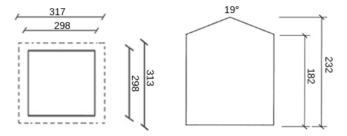 dimensioni casetta in legno valerie