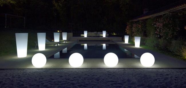 Vaso luminoso STAR Circolare | Arredo-Giardino.com