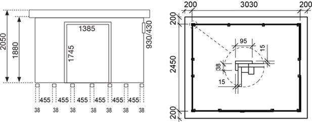 Dimensioni casetta vermont