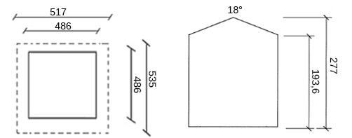 dimensioni casetta legno virginia