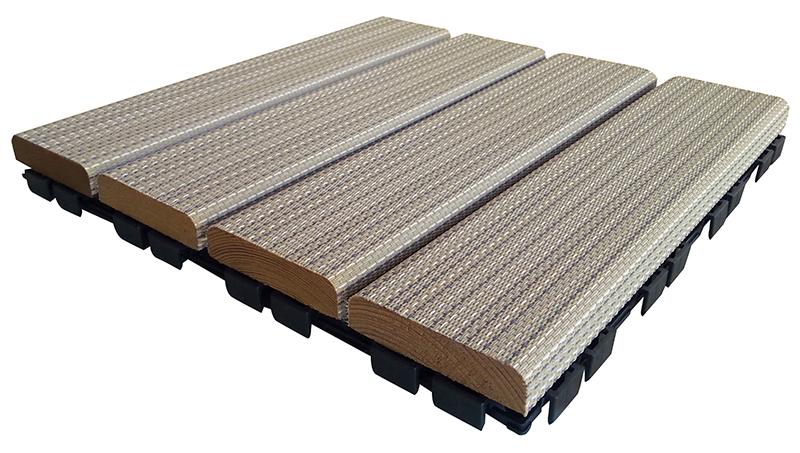 Piastrella Hortus Woven 300x300, legno di pino e pvc