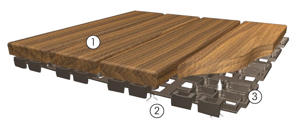 Quadrotta 300x300 in frassino Hortus Wood