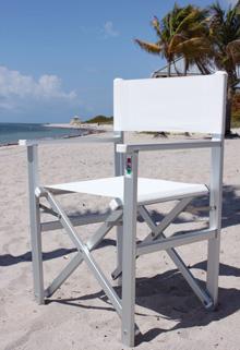 Sedia regista in alluminio ankur pieghevole vari colori for Sedia da regista