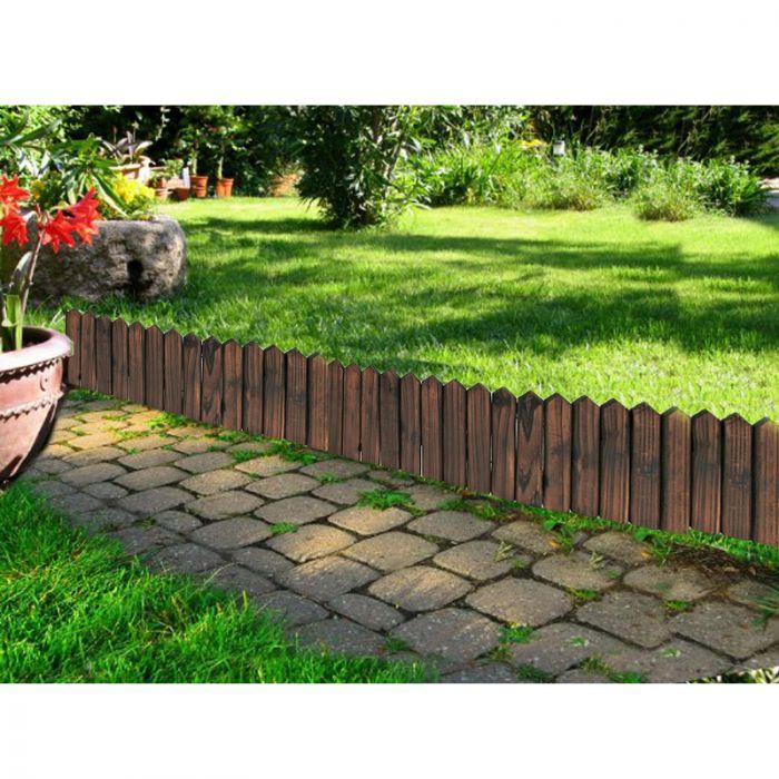 bordatura in legno per giardino 120 x h20 cm arredo