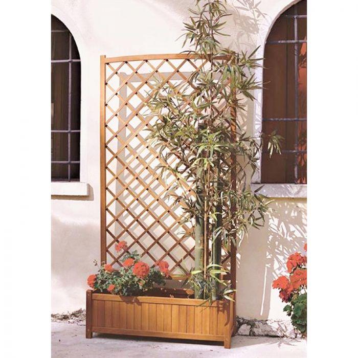 Grigliato in legno trattato con fioriera arredo for Fioriera con grigliato
