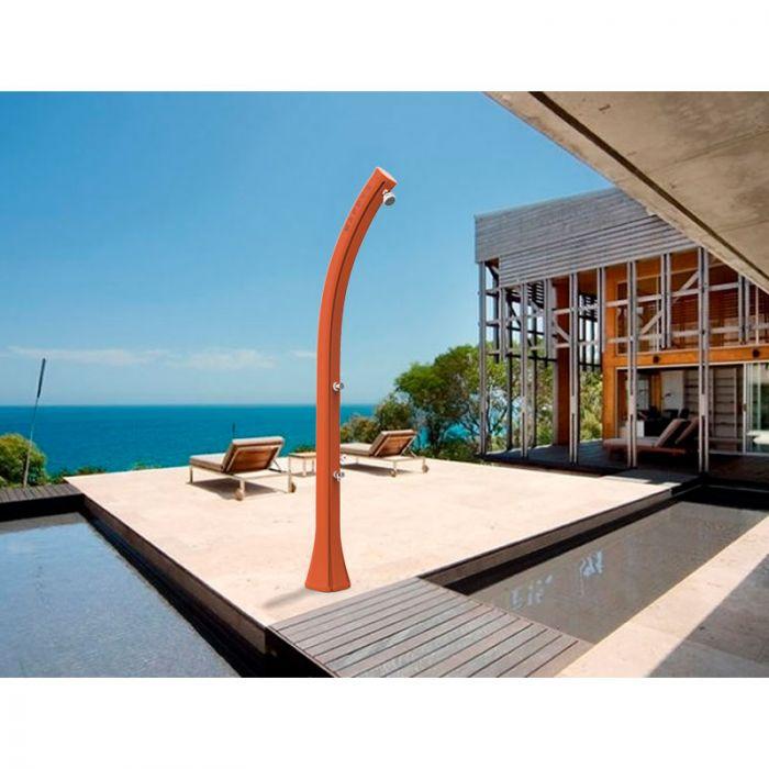 Doccia solare per piscina happy five con miscelatore e for Temporizzatore da giardino