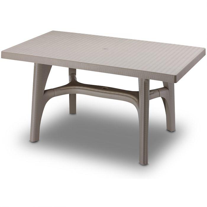 tavolo da giardino intrecciato 140 in resina by scab arredo