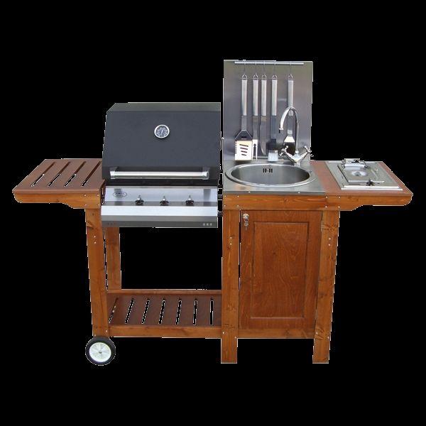 Cucina da esterno barbecue mod iottichef3 arredo - Cucina da esterno con barbecue ...
