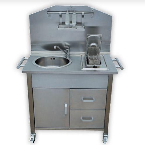 Cucina da esterno a metano gas con 2 fuochi e lavello in - Cucina da giardino ...
