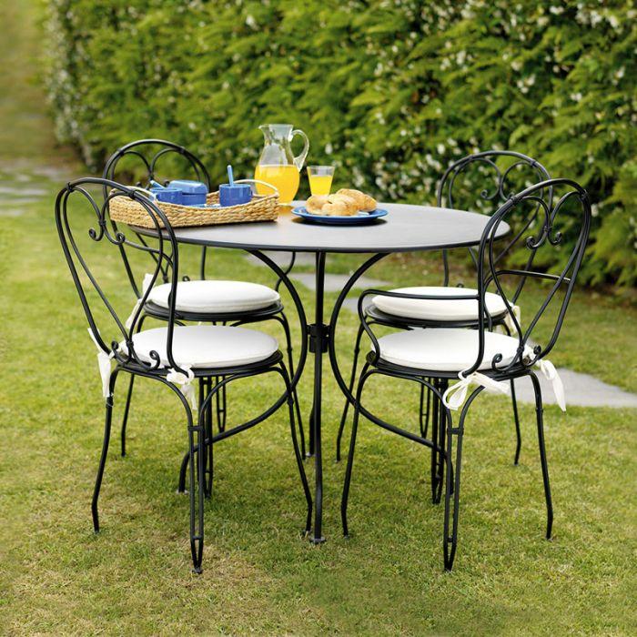 Tavolo tondo STRESA in ferro da giardino  Arredo-Giardino.com