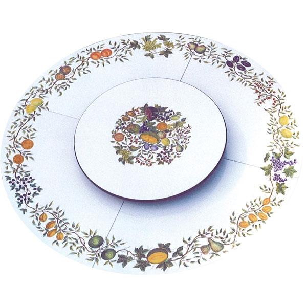 Tavolo rotondo in pietra lavica autunno con piatto centrale girevole arredo - Pietra lavica da tavolo ...