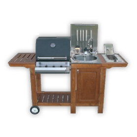 Cucina da Esterno Barbecue Mod. IottiChef3 | Arredo-Giardino.com
