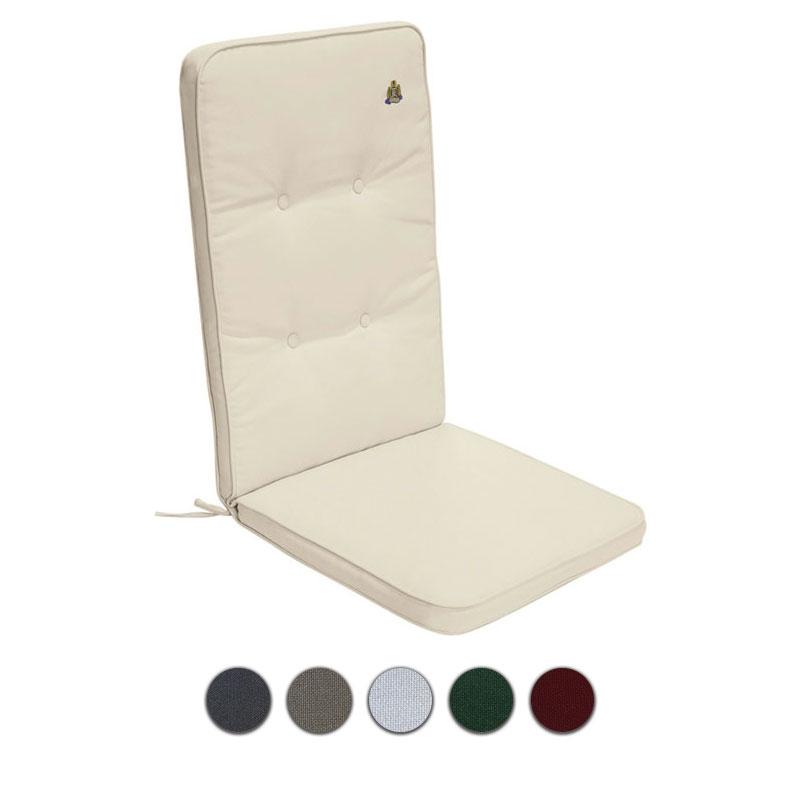 Cuscino per poltrona alta 114x48 cm con bordino decorativo