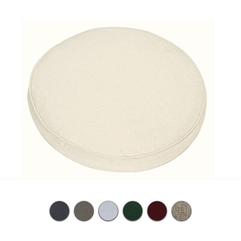 Cuscino rotonda per seduta Ø 40 cm con bordino decorativo