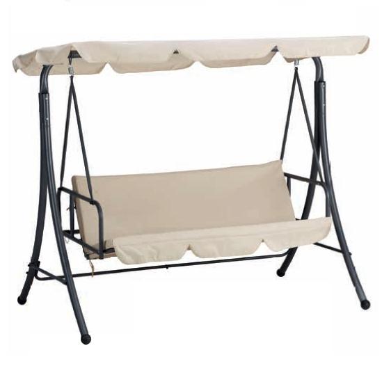 Dondolo in acciaio bali trasformabile in letto arredo for Letto giardino