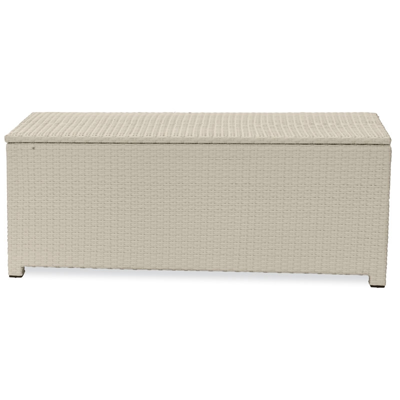 Cassapanca in wicker color white lunghezza da 140 a 180 for Cassapanca legno esterno