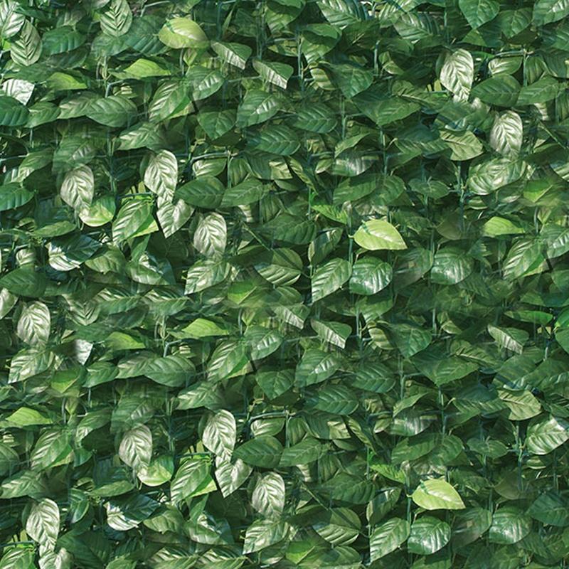 Recinzione in pvc da esterno con foglie di lauro l 300 cm for Rete con foglie finte