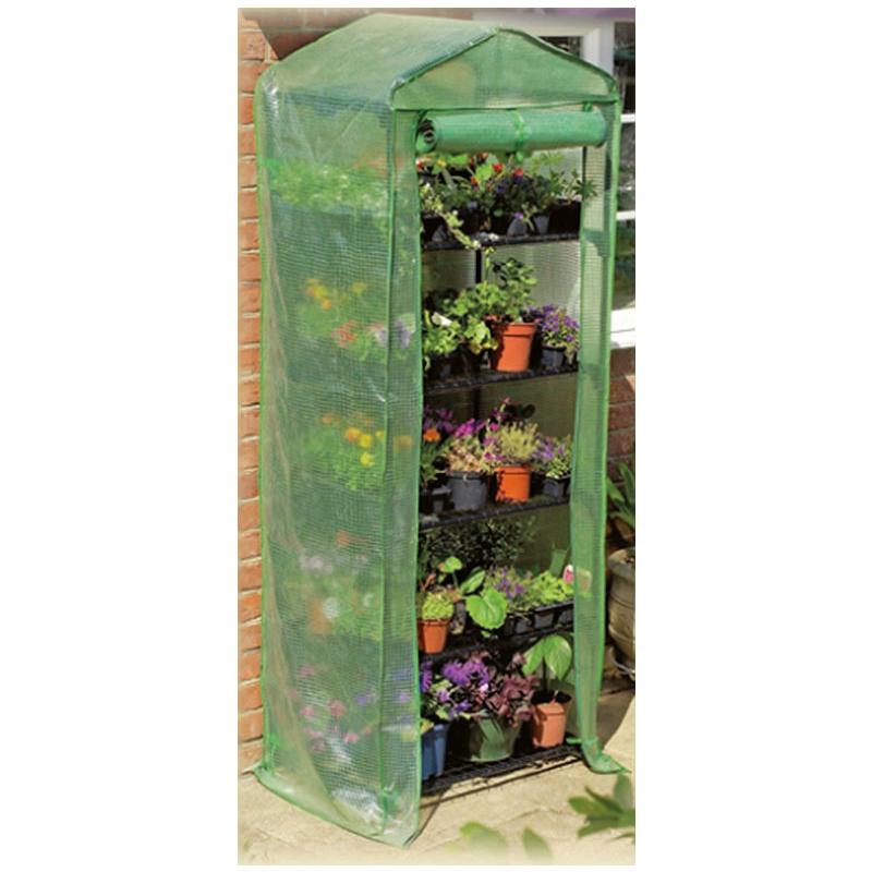 Serra per piante a 5 piani con copertura removibile in pvc for Serra per piante