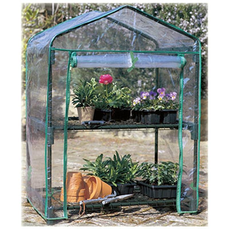 Serra per piante a due piani con copertura removibile in for Serra per piante
