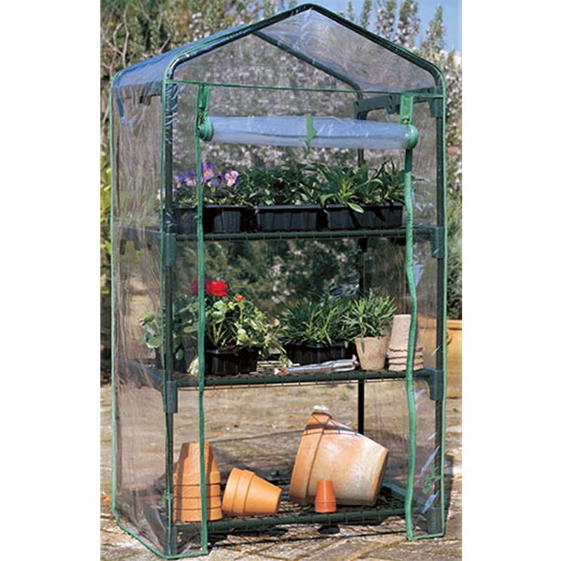 Serra per piante a tre piani con copertura removibile in for Serra per piante
