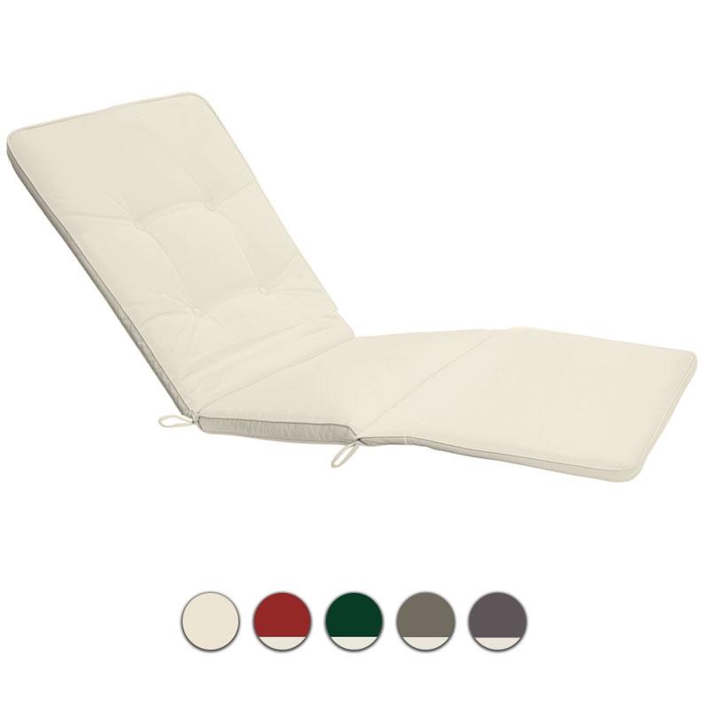 Cuscino per lettino prendisole 200x63 cm con bordino - Cuscini per lettini da giardino ...