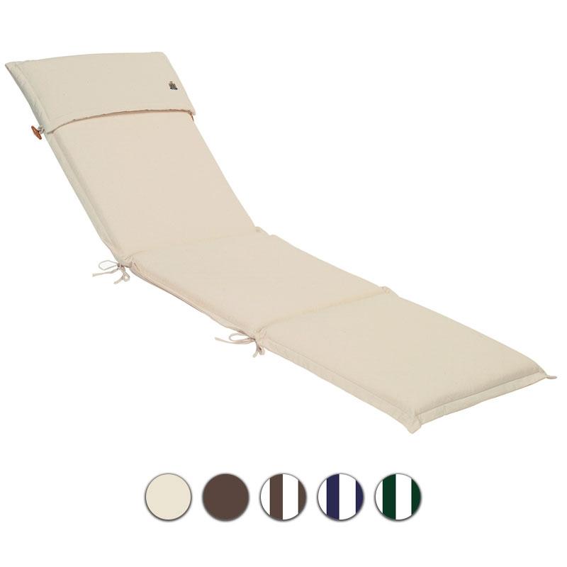 Cuscino per lettino prendisole 196x58 cm con volant - Cuscini per lettini da giardino ...