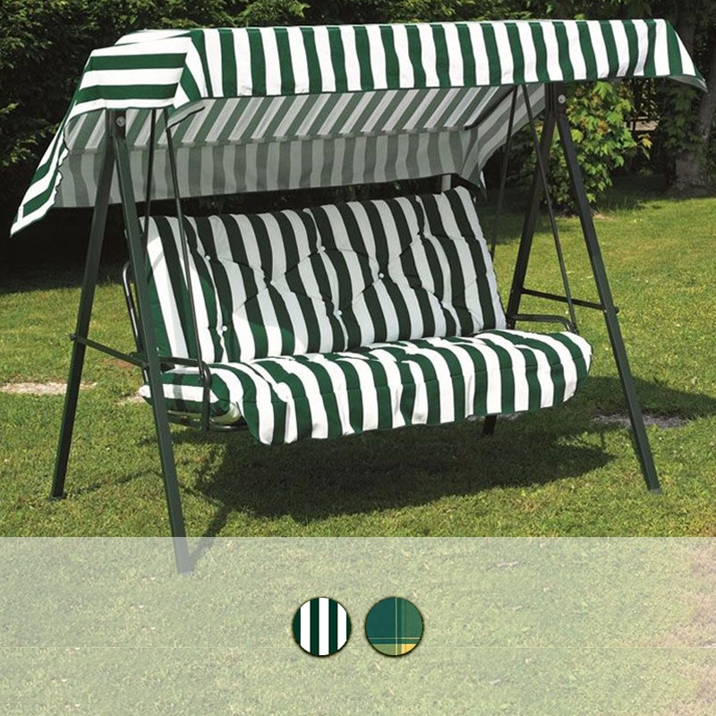 Dondolo 3 posti primavera in acciaio verde e fantasia by for Telo copri dondolo 3 posti