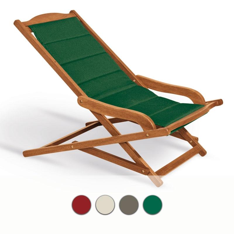 Sdraio in legno di keruing biancospino con cuscini vari for Sdraio da giardino ikea