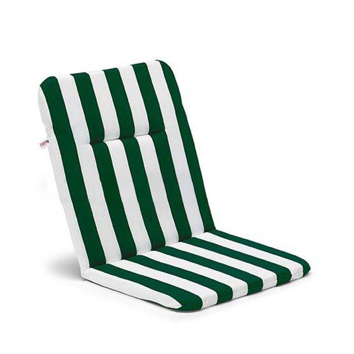 Cuscino di acrilico per poltrone pieghevoli da giardino for Cuscini con schienale per sedie da giardino