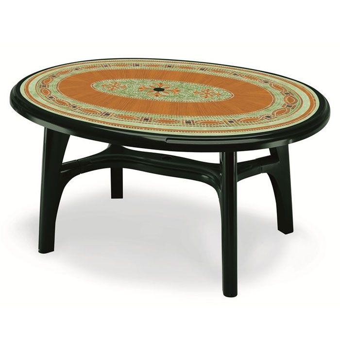 Tavolo da giardino OVOLONE 1500 in resina by Scab | Arredo-Giardino.com