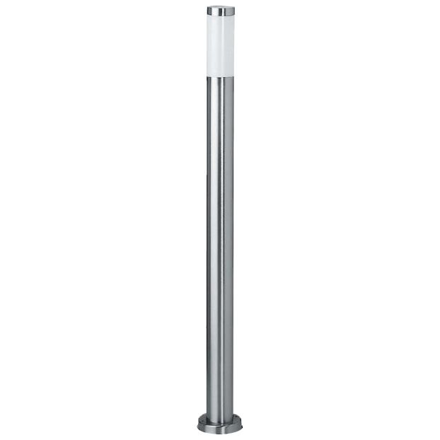 Lampione da giardino beta in acciaio inox h 110 cm - Pali per lampioni da giardino ...