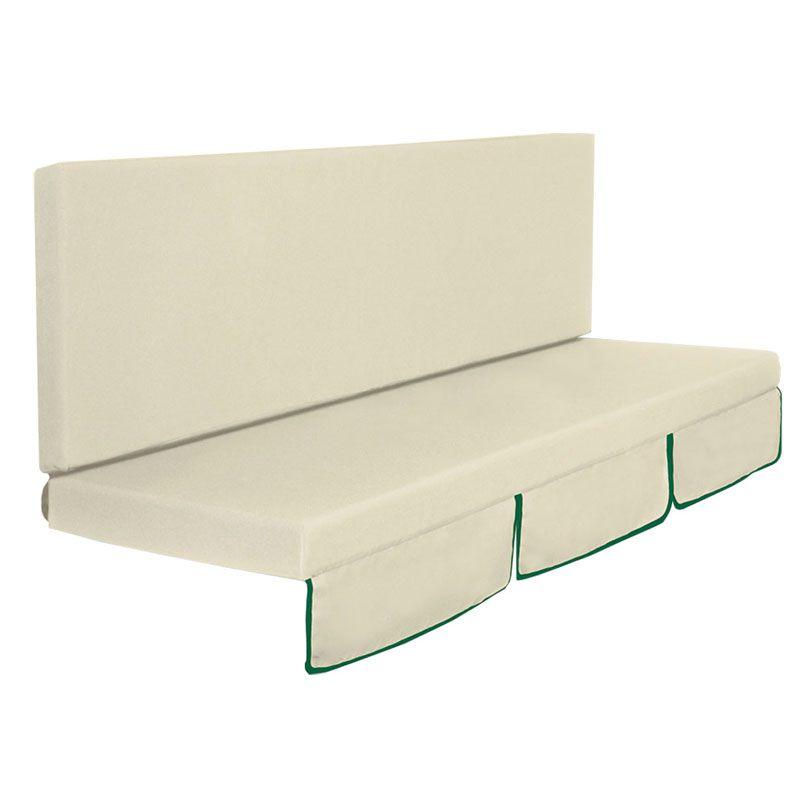 cuscino dondolo mod. larice a 2 o 3 posti, colore verde o ecru